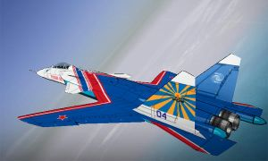 Su-47 Russian Knights Vector Thrust skin by ACZCipher