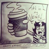 I NEED COFFEE by ChibiCelina