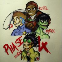 Gorillaz phase 4 by ClaudyHE2