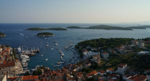 Hvar port and islands by allixsenos