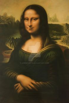 Mona Lisa (Banana Skin Painting) by JeremyArts