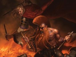 Gotrek and Felix wallpaper by ShadowDrake666
