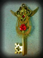 Golden Angel Fantasy Key by ArtByStarlaMoore