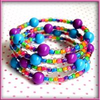 Carnival Colors Rave Bracelet by SugarAndSpiceDIY