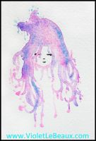 Dripping Cliche Girl ACEO by VioletLeBeaux