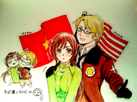 AmeViet by hacchan-pixiv