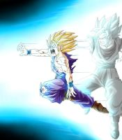 DBZ Father Son Kamehameha by TMFScptKT