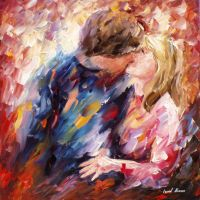 The Aura Of The Kiss by Leonid Afremov by Leonidafremov