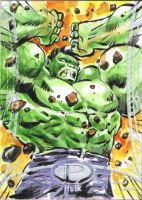 1- Hulk, Premier Marvel Sketch Card Single by Kofee77