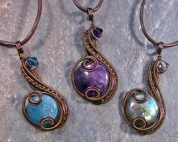 Customizable Bronze Coriolis Pendant by HeatherJordanJewelry