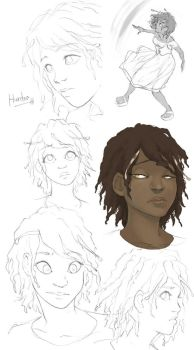 Character sketches: Hunter by Mad-Sniper