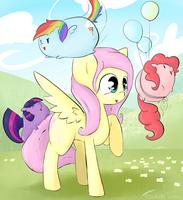 Fluttershy and the Cute Ponae by TesslaShy