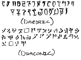 Daedric and Draconic Alphabets by Spirit-Studios-2011