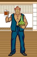 Head Barman Character Reference by krazykez