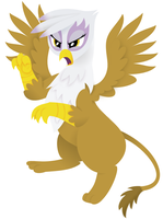 MLP: Gilda Fighting! by giantsquidie
