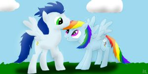 Rainbow Dash and Soarin by SilverOrcaaKitty17