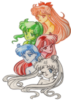 Sailor Scouts by lostangels22