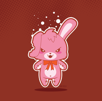 Crazy Bunny Vector by funky23