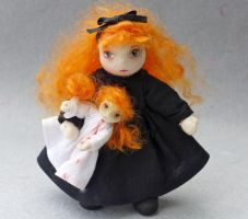 Katherine and her dolly by fairiesnest
