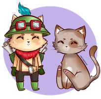 Teemoandcat2.0 by pikabang