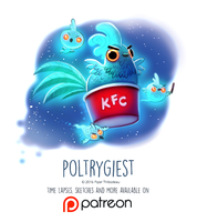 Day 1437. Poltrygiest by Cryptid-Creations