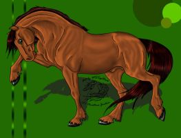Pawing stallion - coloring by gomas-sketches
