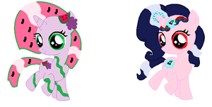 Mixed Fruits Pony Adopts ( Closed ) by FluttershyPony4444