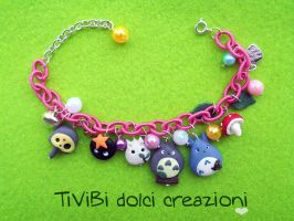 Studio Ghibli inspired Bracelet with Laputa Robot by tivibi