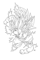 Vegetto SSJ 3 Lineart by Arrancarippo