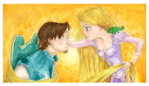 Tangled - Rapunzel and Flynn by kolontre