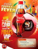 Coco-Cola Football Poster by innografiks