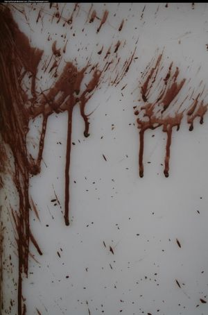 Blood looking paint by enframed
