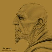 Old Monk by Kimsuyeong81