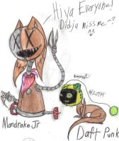 Mandrake Jr and Daft Punk by werecatkid17