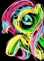 Abstract? Fluttershy by ValkyrieSkies