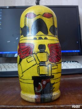 Space Marine (Space Matryoshka) Imperial Fists by Abdiil