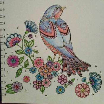 Bird and Flowers by kye-art