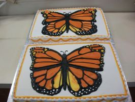 Epic Monarch Cakes by Nimhel