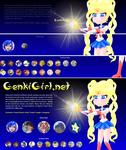 Sailor Moon css animation by MikariStar