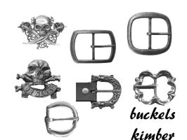 buckle brushes by PirateLizzie