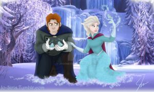 Elsa and Hans: Beauty and a Beast by JoGoNeXX