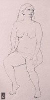 Christie Figure Drawing by shelaghcully
