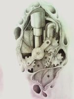 biomechanical tattoo by aqata16