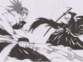 Ichigo vs Renji WIP2 by Swift42