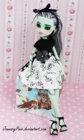 Frankie - Monster High Doll Repaint by PixiePaints