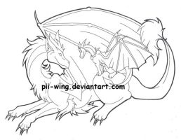 Dragons by Pii-wing