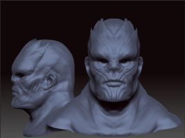Thanos Redesign Bust by Cok3ster