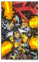 Warhammer Space Wolves Colored by SIDEBOARD