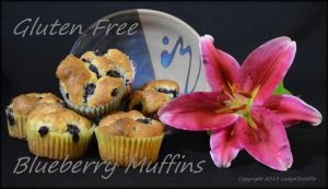 Recipe - Gluten Free Blueberry Muffins by LadyAliceofOz