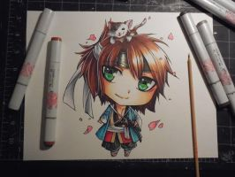 Copic Chibi Okita by Mireielle